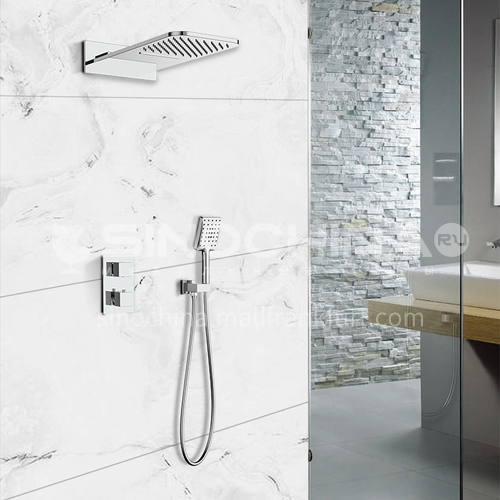 HIMARK intelligent constant temperature health shower luxury embedded natural oxygen bar rain shower head 1460700A chrome