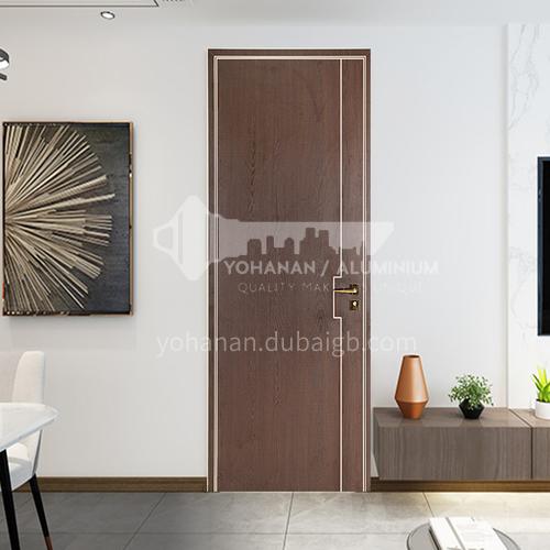 Ecological wear-resistant board dark brown modern aluminum wooden door