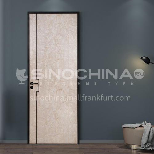 Ecological wear-resistant board natural color modern light luxury aluminum wooden door