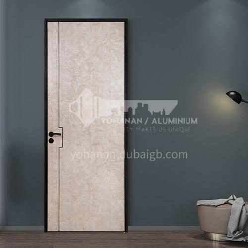 Ecological wear-resistant board natural color modern light luxury aluminum wooden door