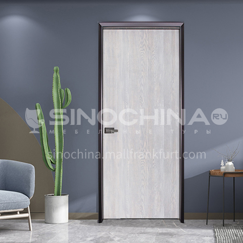Fashionable simple wear-resistant ecological board mute aluminum wooden door