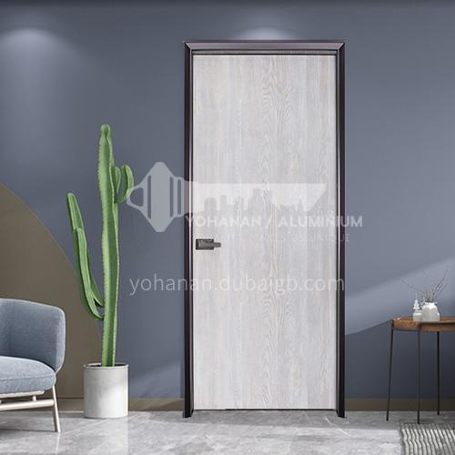 Fashionable simple wear-resistant ecological board mute aluminum wooden door