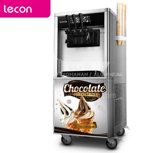 Lecon ice cream machine commercial ice cream machine automatic soft ice cream machine ice cream machine desktop vertical floor-standing cone machine sundae machine automatic cleaning white Panasonic compressor   DQ001017