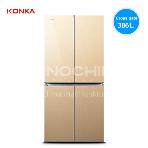 Konka  Refrigerator double door household large capacity ultra-thin cross open four door refrigerator 386 liters DQ009064
