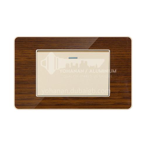 Acrylic wood grain hotel decoration switch modern style-LY-L17-E