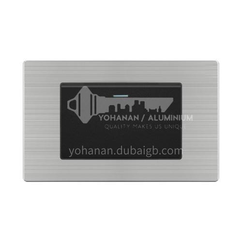 118 type switch socket panel wall power black stainless steel switch socket-L20 black
