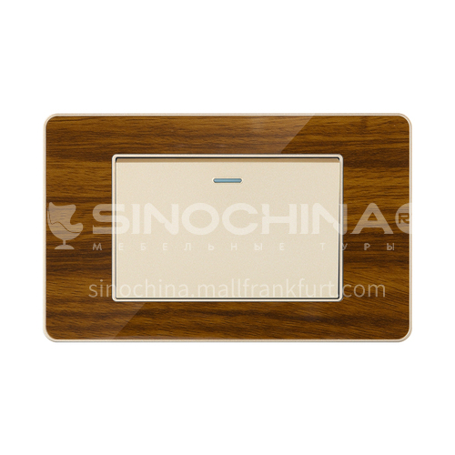 Acrylic wood grain hotel home improvement office modern switch socket LY-L17 acrylic wood grain series D