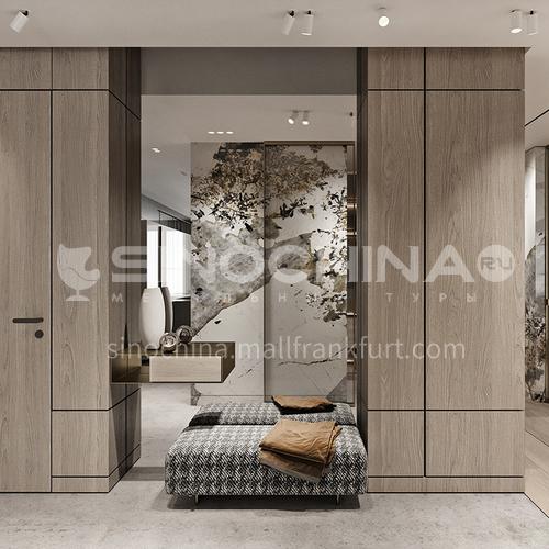classical design matt uv lacquer and glass door wardrobe  GW432