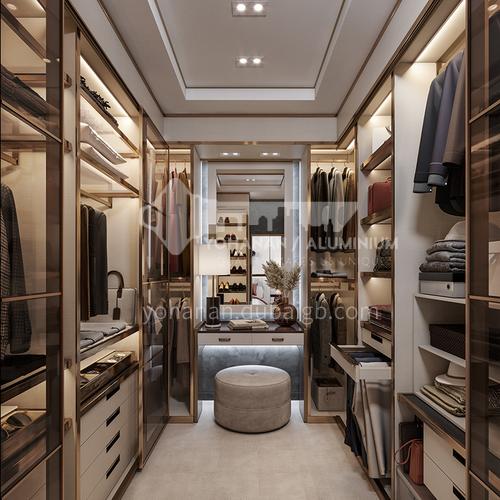 Customized style wardrobe with tempered glass door big wardrobe GW-440