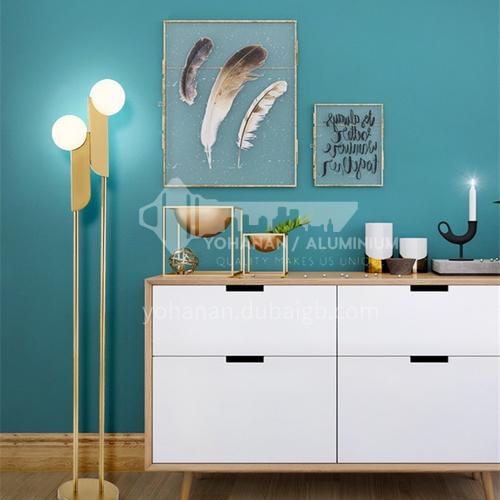 American minimalist double-headed glass ball living room floor lamp Nordic designer bedroom study lamp YDH-6037