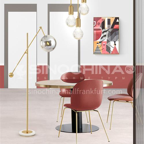 Modern creative glass ball living room floor lamp art bedside bedroom Nordic designer marble floor lamp YDH-6083