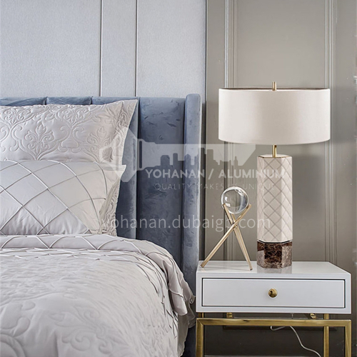 American simple and light luxury living room table lamp Nordic modern creative bedside bedroom study decoration table lamp YDH-8028