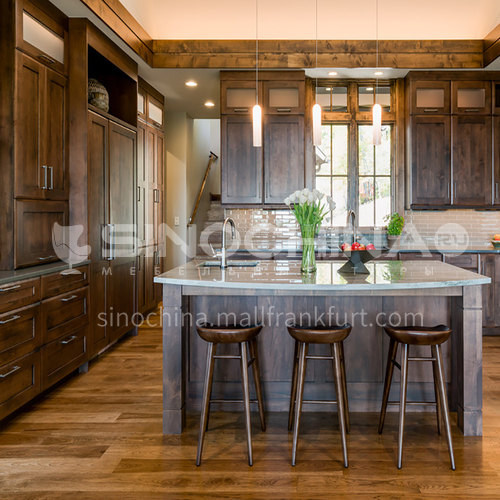 American style Classical style kitchen PVC with HDF GK-1265