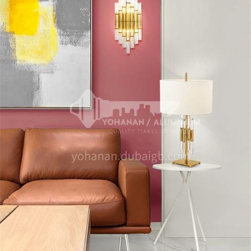 American simple crystal glass rod table lamp modern creative model room furniture designer living room bedroom table lamp YDH-8036