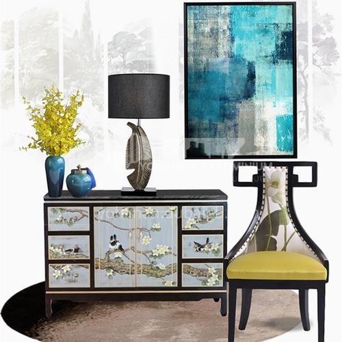 American modern fashion postmodern designer model room bedroom living room study leaf table lamp YDH-8101