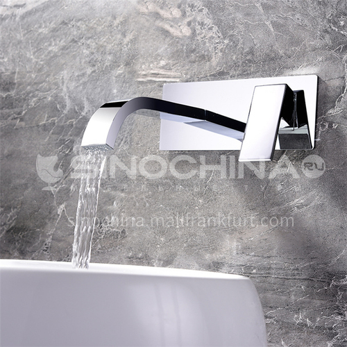 Household Public Toilets In-Wall Faucet Silver HI02009