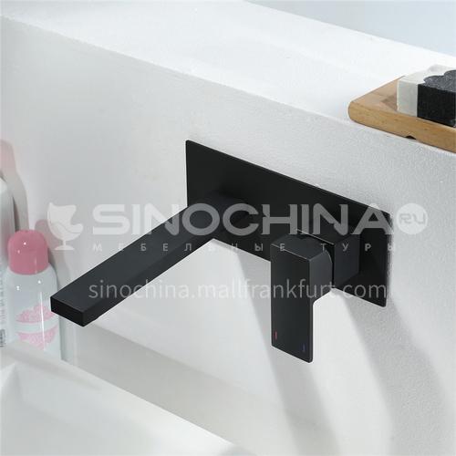 Household Public Toilet In-Wall Faucet Black HI02017-2