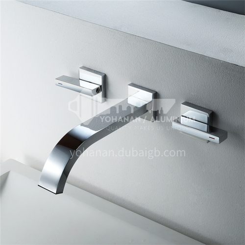 Household Public Toilet In-Wall Faucet Silver HI03A013
