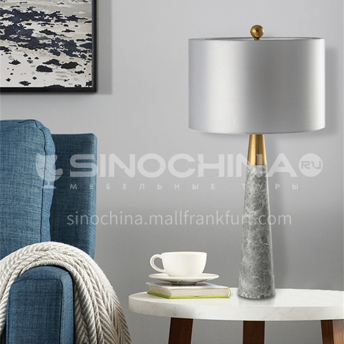 American simple living room bedroom study natural marble table lamp modern designer decoration model room table lamp YDH-8157
