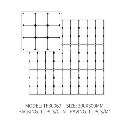 Bathroom tiles Nordic bread tiles Kitchen IKEA small white tiles-SSFYTF30069 300X300mm