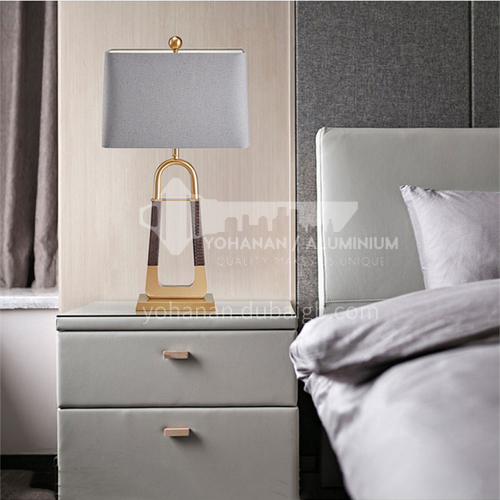 American simple creative boutique metal leather texture table lamp designer living room study bedroom decorative table lamp YDH-8173