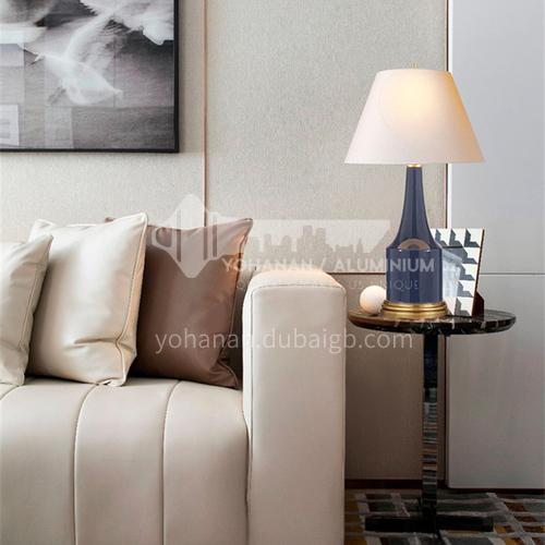 American simple ceramic table lamp modern bedroom bedside study living room model room decorative table lamp YDH-8186