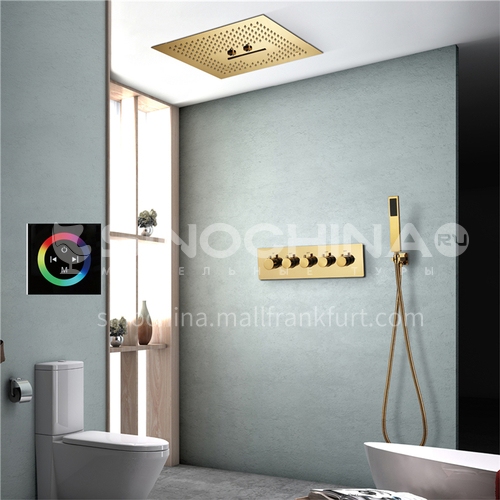 Household shower set gold touch screen 4+1
