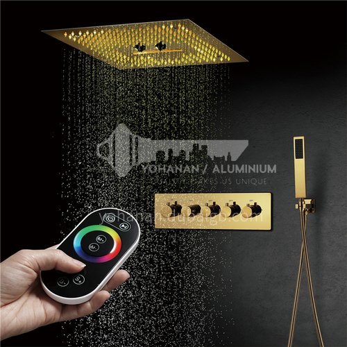 Household shower set gold remote control 4+1C