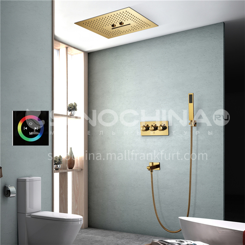 Household shower set gold touch screen 2+1A