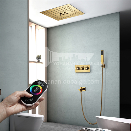 Household shower set gold remote control 2+1C