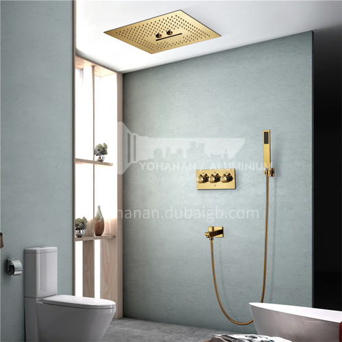 Household shower set gold without light 2+1D
