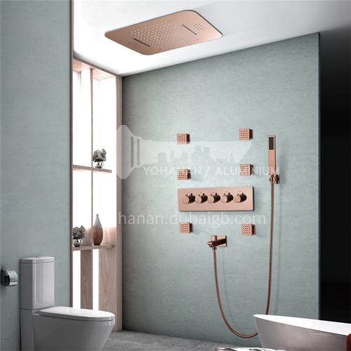 Household shower set rose gold mobile phone control HI05046T-3B