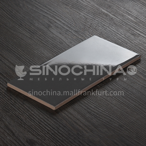 Simple white tiles kitchen and bathroom wall tiles solid color tiles black and white gray wall tiles-SSFYM1203 100×200mm