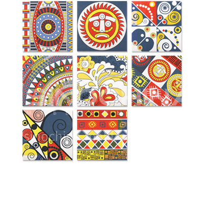 Restaurant background wall tiles, small flower tiles, retro color tiles, non-slip floor tiles-SSFY20123W 200×200mm