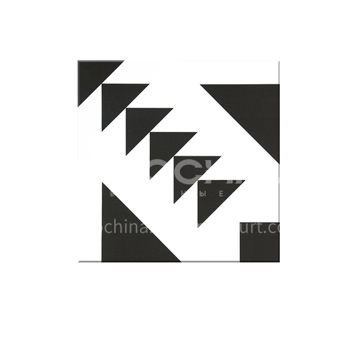 Modern Chinese Guest Restaurant Floor Tiles Black and White Tiles Balcony Floor Tiles-  SSFYTF6046 600X600mm