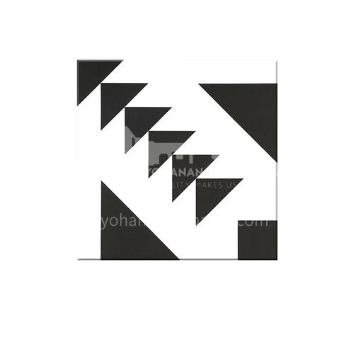Modern Chinese Guest Restaurant Floor Tiles Black and White Tiles Balcony Floor Tiles-  SSFYTF6046 600X600mm