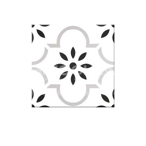 """אריחי רצפת מסעדת אורחים סינית מודרנית אריחי רצפה בשחור לבן אריחי רצפה- SSFYTF6052 600X600 מ""""מ"""