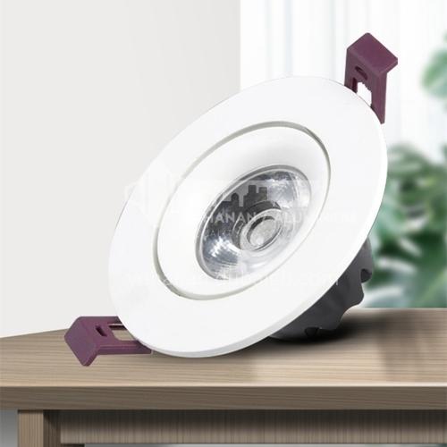 Spotlight led embedded home living room circular project hotel spotlight-KLO-HS-01COB