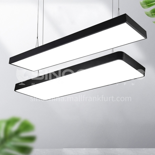 LED rectangular hanging wire simple modern shop commercial super bright office chandelier-NH300