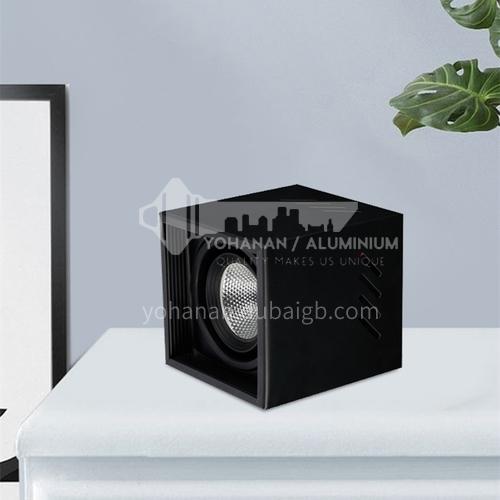 led surface mounted spotlight square living room aisle black ceiling downlight cob spotlight-AD-V707