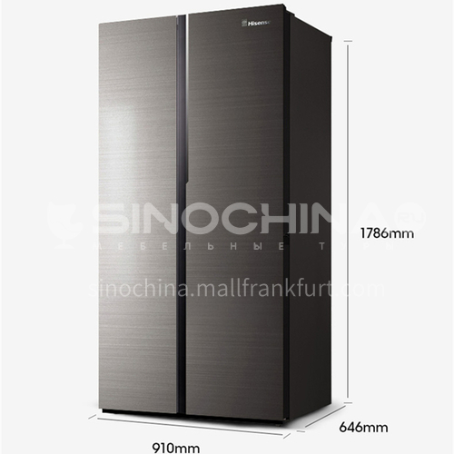 Hisense refrigerator 530 liters, first-class energy efficiency, God of Cookery series side-by-side doors, air-cooled basalt glaze panel, intelligent dual frequency conversion, independent dual-circulation system, refrigerator   DQ001041