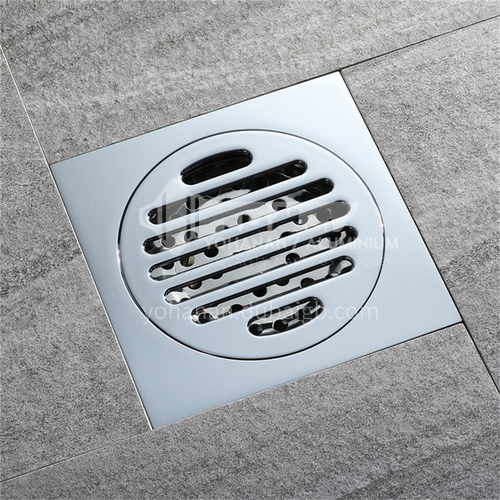 All copper anti-odor floor drain, insect-proof, anti-reflow, large flow 40 pipes, bathroom floor drain, factory direct wholesale HIDL002-5