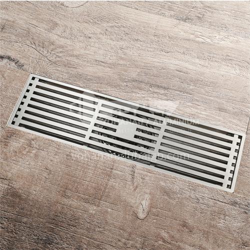 300*80mm bathroom accessories brushed copper wire anti-odor floor drain bathroom shower floor drain HIDL085-2