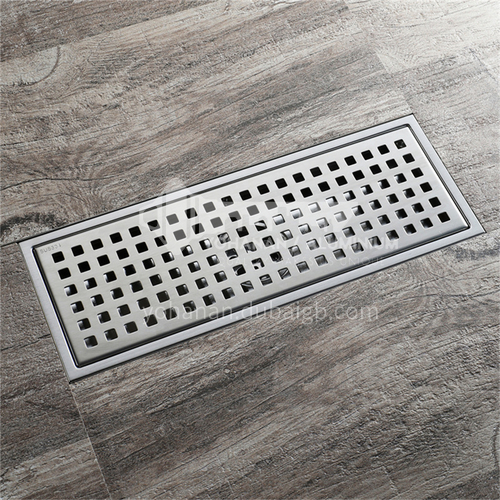 110*300mm stainless steel floor drain 304 bathroom odor-proof floor drain, insect-proof and anti-return long floor drain factory direct sales HIDL120A