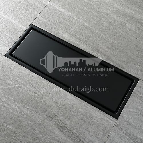 110*300mm matt black invisible long floor drain 304 stainless steel rectangular bathroom deodorant and insect resistant floor drain HIDL130