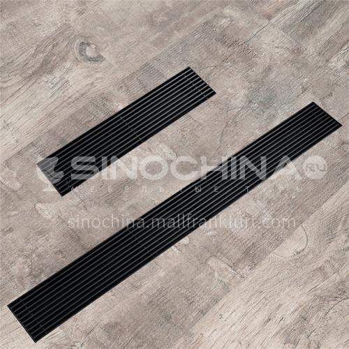 600*70mm stainless steel rectangle, black mesh floor drain, bathroom balcony floor drain HIDL163-1