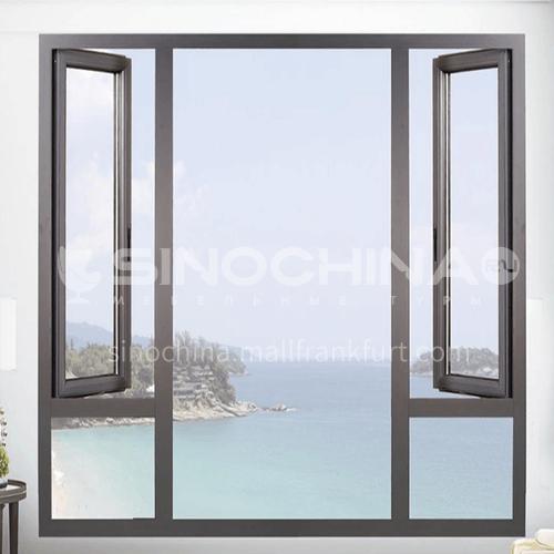 100 series 1.2-2.0mm aluminium casement window/aluminum window with mesh aluminum casement windows for nigeria