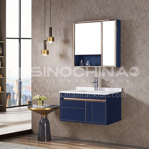 Stainless steel bathroom cabinet combination bathroom, rock plate stainless steel vanity table, hand-washing washbasin cabinet custom WXD-8002A