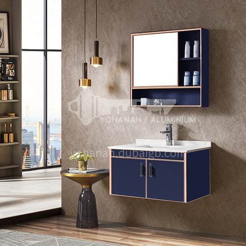 Stainless steel bathroom cabinet combination, bathroom, rock plate stainless steel vanity, hand washing and washbasin cabinet custom WXD-8003A