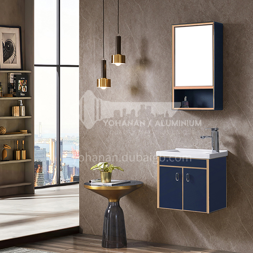 Bathroom Stainless steel bathroom cabinet combination Small apartment wash basin Light luxury wall cabinet WXD-8007